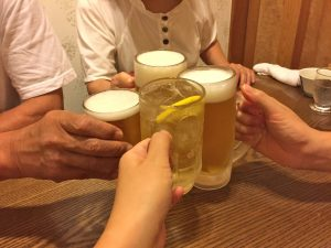 暴飲暴食,アルコール,ストレス,飲み会